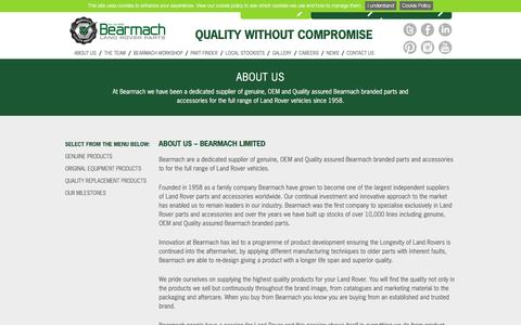 Screenshot of About Page bearmach.com - About Us - Bearmach - captured July 28, 2016