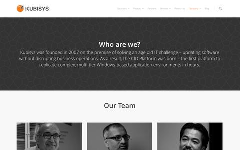 Screenshot of Team Page kubisys.com - Leadership - Kubisys - captured Nov. 3, 2014