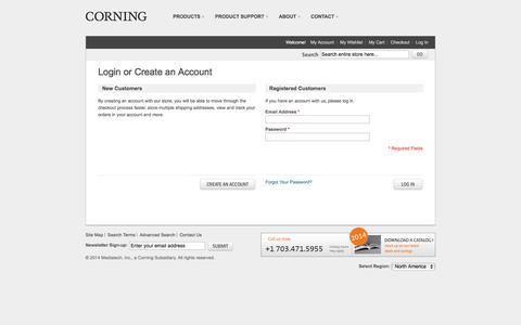 Screenshot of Login Page cellgro.com - Customer Login - captured Feb. 4, 2016