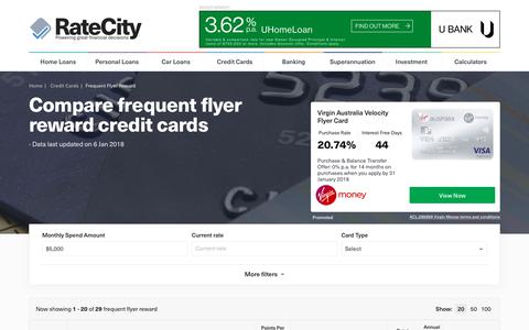 Frequent Flyer Credit Cards: Up To 150k Bonus Points | RateCity