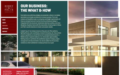 Screenshot of Services Page dsfnarchitects.com - Services | DSFN Architects - captured March 1, 2016
