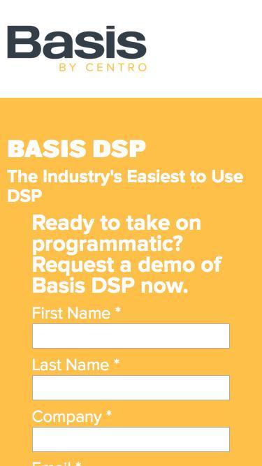 Basis DSP. Programmatic buying made easier.