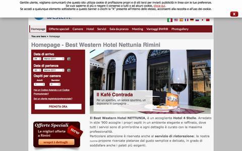 Screenshot of Home Page hotelnettunia.it - Best Western Hotel Nettunia - Rimini - captured March 19, 2017