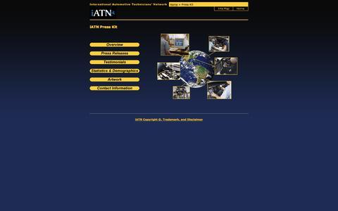Screenshot of Press Page iatn.net - iATN - Press Kit - captured Sept. 20, 2018
