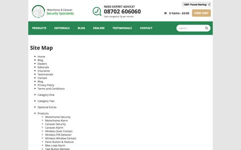 Screenshot of Site Map Page 606060.com - Sitemap - captured Oct. 18, 2018