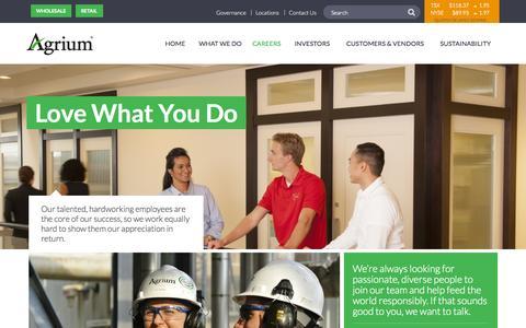 Screenshot of Jobs Page agrium.com - Careers | Agrium Inc. - captured Oct. 2, 2015
