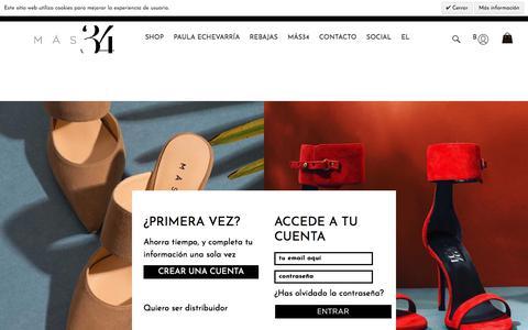 Screenshot of Login Page mas34shop.com - Identificador de cliente - captured Aug. 12, 2019