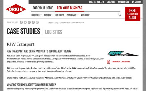 Screenshot of Case Studies Page orkin.com - Warehouse Facility Audits & Pest Control Case Study - captured Oct. 26, 2018