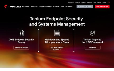 Endpoint Security and Systems Management | Tanium