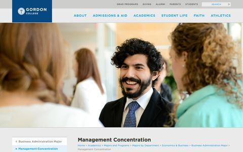 Screenshot of Team Page gordon.edu - Management Concentration - Gordon College - captured Oct. 21, 2016