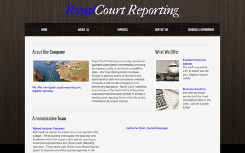 Screenshot of About Page rcrs.com - About Us - captured June 17, 2016