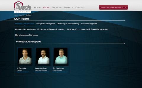Screenshot of Team Page scenicridge.com - Our Team   Scenic Ridge Company - captured Nov. 2, 2014