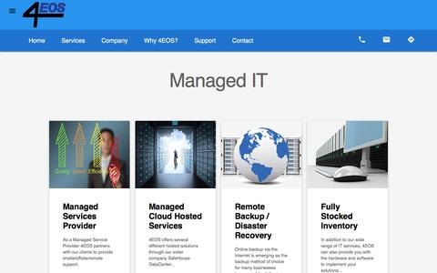 Screenshot of Services Page 4eos.com - Products and Services | Services - captured Nov. 14, 2016