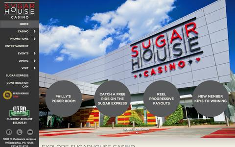 Screenshot of Home Page sugarhousecasino.com - SugarHouse Casino - captured June 17, 2015