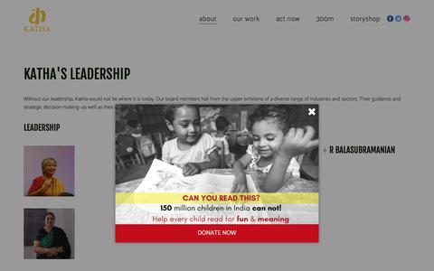 Screenshot of Team Page katha.org - Board of Directors 1 – Katha - captured Sept. 20, 2018