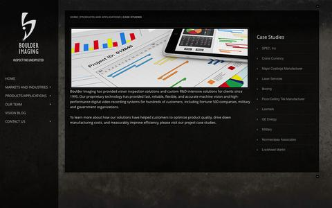 Screenshot of Case Studies Page boulderimaging.com - Case Studies | Boulder Imaging - captured Sept. 13, 2014