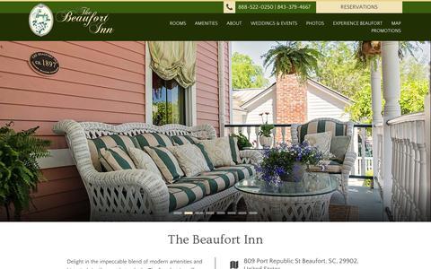 Screenshot of Contact Page beaufortinn.com - The Beaufort Inn | Beaufort, SC - captured Oct. 7, 2014