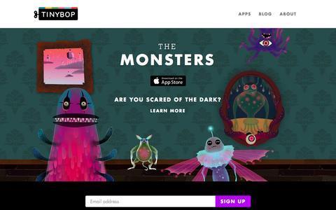 Screenshot of Home Page tinybop.com - Toys for Tomorrow | Tinybop - captured Dec. 4, 2015