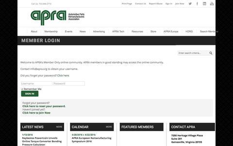 Automotive Parts Remanufacturers Association