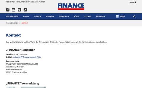 Kontakt-FINANCE Magazin