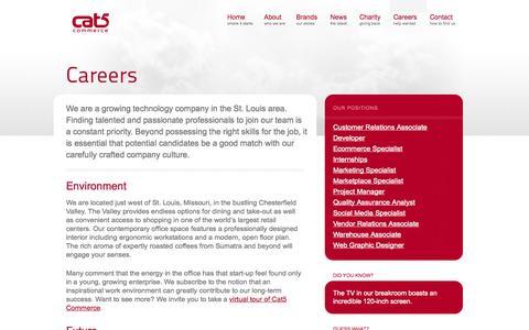 Screenshot of Jobs Page cat5.com - Careers – Cat5 Commerce - captured Sept. 19, 2014