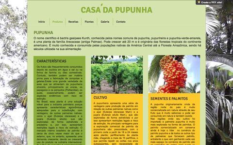 Screenshot of Services Page casadapupunha.com.br - CASA DA PUPUNHA | Produtos - captured May 15, 2017
