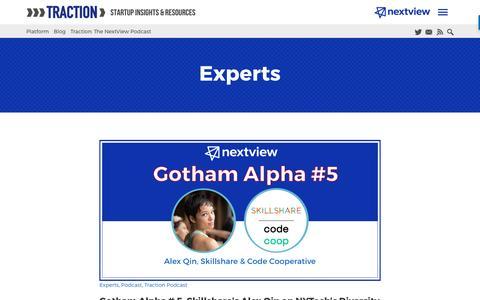 Screenshot of Blog nextviewventures.com - Experts Archives - NextView Ventures - captured April 17, 2017