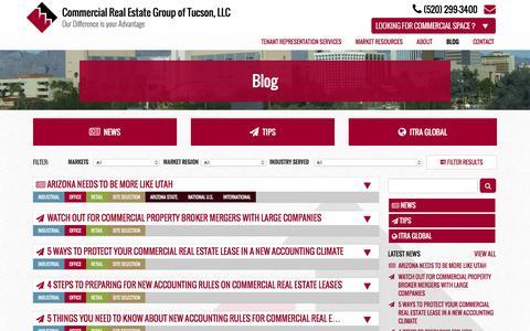 Screenshot of Blog commercial-real-estate-tucson.com - Blog - Commercial Real Estate Group of Tucson, LLC - captured Jan. 29, 2016