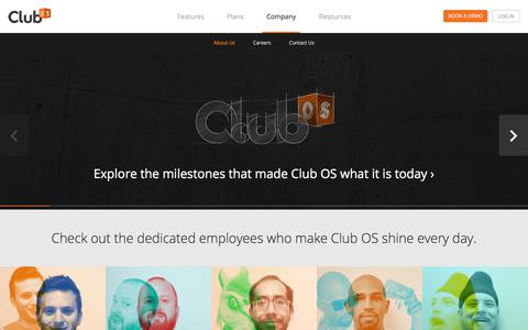 Screenshot of About Page club-os.com - About Club OS - captured July 19, 2018