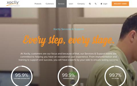 Screenshot of Services Page xactlycorp.com - Xactly Customer Services | Xactly Corp - captured Nov. 10, 2015