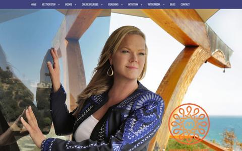 Screenshot of Home Page kristenwhite.net - Kristen White - captured Feb. 14, 2016
