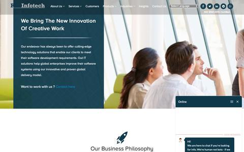 Screenshot of Team Page revinfotech.com - Meet Our Leadership Team - RevInfotech - captured Nov. 18, 2018