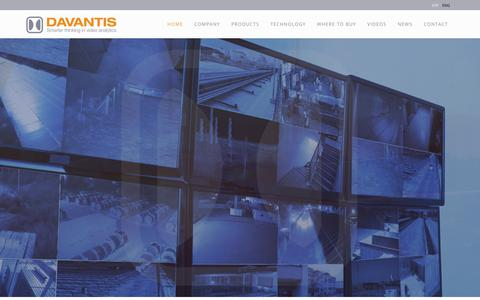 Screenshot of Home Page davantis.com - Davantis - Video analysis and perimeter protection products with our own technology. - captured Oct. 12, 2017