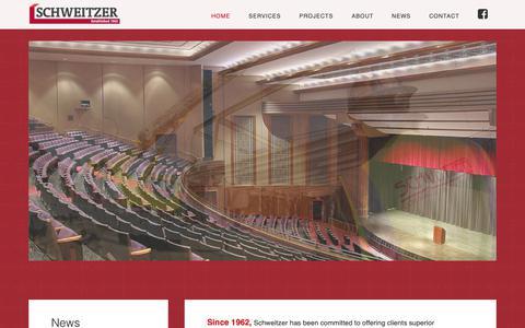 Screenshot of Home Page schweitzerinc.com - Schweitzer – Construction in Battle Creek, MI - captured Oct. 2, 2018