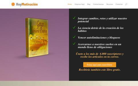 Screenshot of Home Page hoymotivacion.com - Hoy Motivación | Una mirada práctica a la experiencia humana - captured Sept. 24, 2014