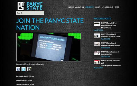 Screenshot of Signup Page panycstate.com - Join the PANYC State Nation - captured Sept. 26, 2014