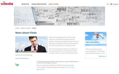 Screenshot of Press Page vileda.com - Press - captured June 29, 2017