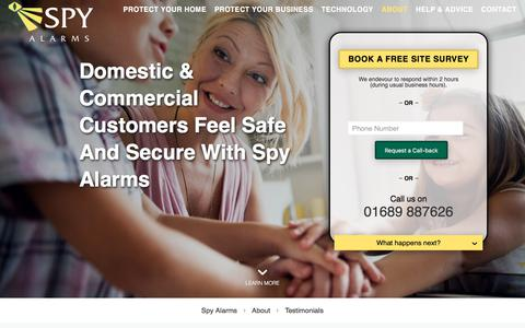 Screenshot of Testimonials Page spyalarms.co.uk - Spy Alarms Home & Office Security Testimonials | Spy Alarms - captured Nov. 14, 2017