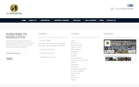 Screenshot of Developers Page a1properties.ae - A1 Properties Dubai Best Deals in Real Estate & Investment  » Developers - captured Feb. 9, 2016