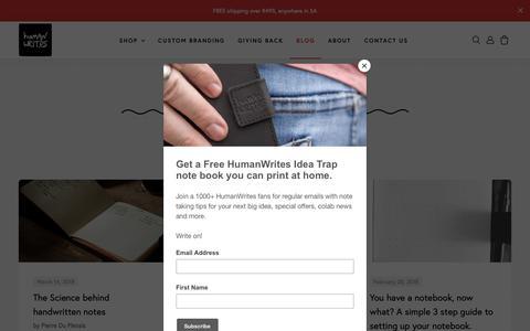 Screenshot of Blog humanwrit.es - HumanWrites Blog – Humanwrit.es - captured Oct. 23, 2018