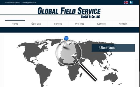 Screenshot of Home Page global-field-service.net - Global Field Service GmbH & Co. KG - captured Aug. 7, 2017