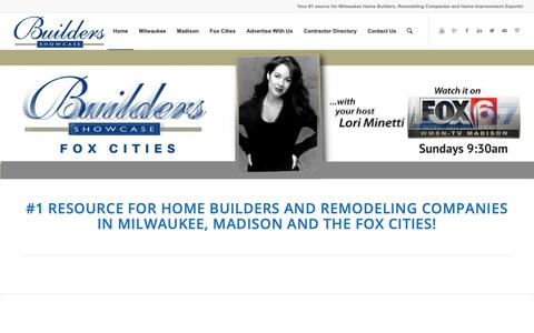 Screenshot of Home Page builders-showcase.com - Milwaukee Home Builders | Builders Showcase Television | New Homes WI - captured Oct. 6, 2018