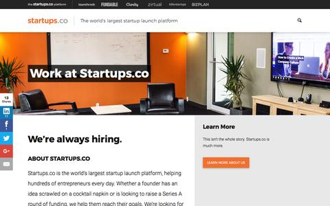Work at Startups.co | Startups.co