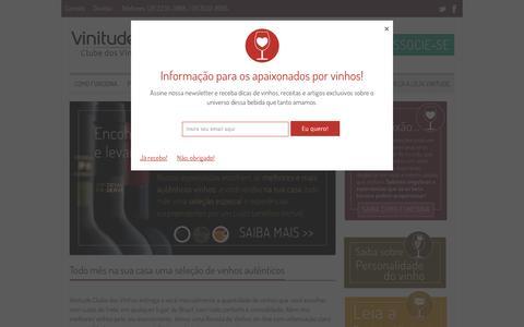 Screenshot of Home Page clubedosvinhos.com.br - Clube dos Vinhos | Assinatura, Informações, Dicas e Revista sobre Vinhos - captured Sept. 23, 2014