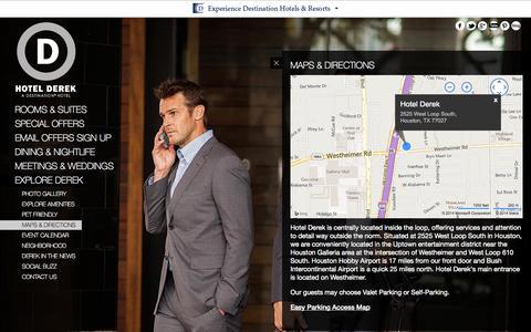 Screenshot of Maps & Directions Page hotelderek.com - Houston Hotels near Galleria | Hotel Derek - Directions | Hotels Houston Galleria - captured Sept. 22, 2014