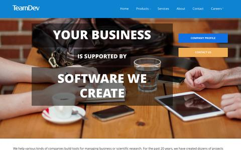 Screenshot of Services Page teamdev.com - Cutting-edge Java development services by TeamDev - captured June 12, 2017