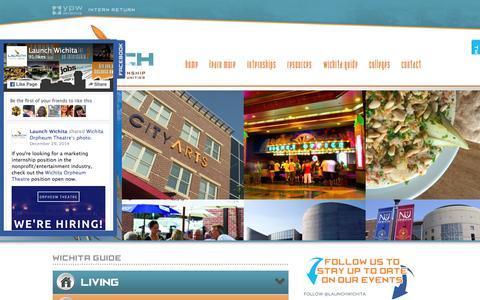 Screenshot of Press Page launchwichita.com - Wichita Guide | Launch Wichita | Wichita Internships - captured March 16, 2016