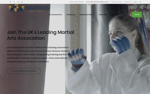 Screenshot of Signup Page bmaba.org - Join The British Martial Arts & Boxing Association (BMABA) - The British Martial Arts & Boxing Association | National UK Martial Arts Governing Body | BMABA - captured Feb. 14, 2018