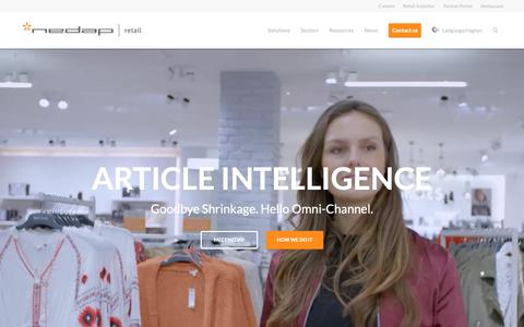 Screenshot of Home Page nedap-retail.com - RFID Retail Article Intelligence solutions - Global - Nedap Retail - captured Oct. 17, 2018
