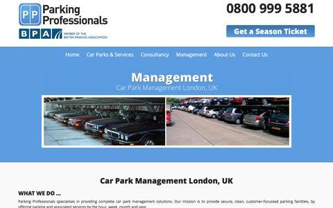 Screenshot of Team Page parking-pros.co.uk - Car Park Management, London, UK   Parking Professionals - captured Jan. 25, 2016